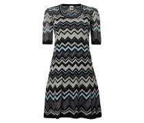 Kleid mit Zickzack-Muster und Effektgarn