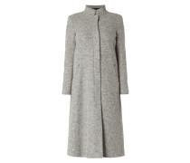 Mantel aus gewalkter Schurwollmischung