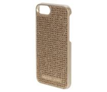 iPhone Case mit Ziersteinen und Glitter-Effekt