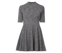 Kleid mit kurzen Raglanärmeln - meliert