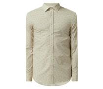 Slim Fit Business-Hemd aus Baumwolle Modell 'Adley'