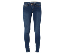 Stone Washed Super Slim Fit 5-Pocket-Jeans