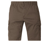 Relaxed Fit Cargobermudas aus Twill