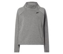 Boxy Fit Sweatshirt mit Stehkragen