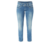 Stone Washed Regular Fit Jeans mit Stretch-Anteil