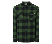Regular Fit Flanellhemd aus Baumwolle Modell 'New Sacramento'