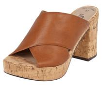 Sandaletten mit Plateausohle aus Kork