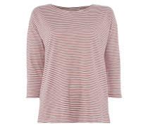 Shirt mit Streifenmuster und Dreiviertel-Ärmeln