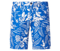 Chino-Shorts mit Allover-Muster Modell 'Brooklyn'