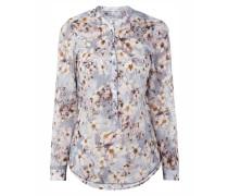 Blusenshirt mit künstlerischem Blumenmuster