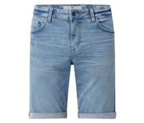 Regular Slim Fit Jeansshorts mit Stretch-Anteil Modell 'Josh'