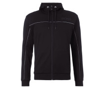 Regular Fit Sweatjacke mit Kapuze