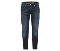 Slim Fit Jeans im Stone Washed Look