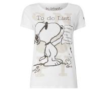 T-Shirt mit Peanuts©-Print und Ziersteinen