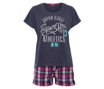 Pyjama mit glitzerndem Logo-Print
