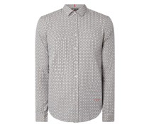 Slim Fit Business-Hemd aus Baumwolle Modell 'Haci'