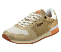 Sneaker aus Mesh mit Details in Metallicoptik