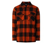 Regular Fit Flanellhemd aus Baumwoll-Viskose-Mix Modell 'Luke'