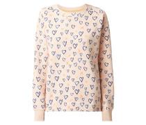 Sweatshirt mit Herzmuster
