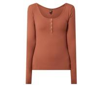 Serafino-Shirt mit Stretch-Anteil Modell 'Kitte'