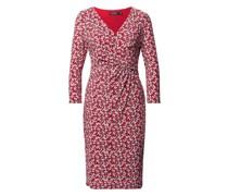 Minikleid mit floralem Muster und Drapierungen