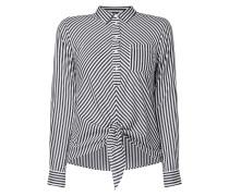 Bluse aus Baumwolle mit Streifenmuster