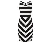 Kleid mit Streifenmuster und V-Ausschnitt