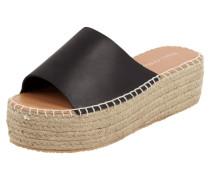 Plateau-Sandale aus Leder