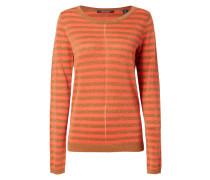 Pullover aus Effektgarn mit Zierstreifen