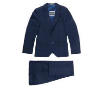 Anzug mit strukturiertem Tupfenmuster