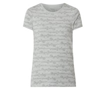 T-Shirt mit Logo-Muster Modell 'Cecile'