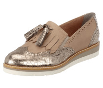 Tassel Loafer mit Metallic-Details