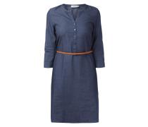 Kleid in Jeansoptik mit Taillengürtel