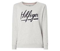 Sweatshirt mit Logo-Flockprint