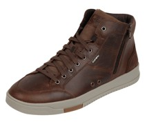 High Top Sneaker aus Leder Modell 'Segnale'