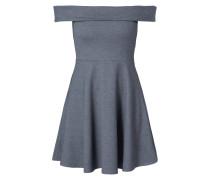 Off Shoulder Kleid in Melangeoptik