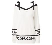 Off Shoulder Pullover mit abnehmbaren Trägern