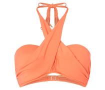 Bikini-Oberteil mit überkreuztem Neckholder