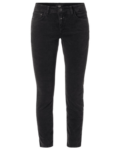 Slim Fit 5-Pocket-Hose aus Samt
