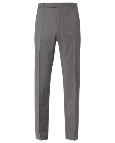 Slim Fit Anzughose mit Bügelfalten