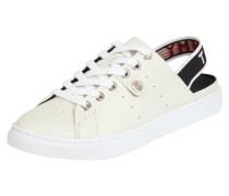 Slip-On Sneaker aus Leder mit elastischem Riemen