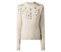 Pullover mit Zierperlenbesatz