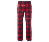 Pyjamahose aus Flanell - kariert