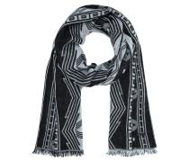 Schal mit Alpaka-Anteil und Ethno-Muster