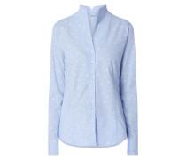 Bluse aus Baumwolle mit Punktemuster