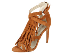 Sandaletten aus echtem Veloursleder