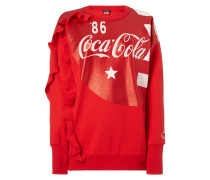 Oversized Sweatshirt mit Coca-Cola-Print