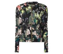 Steppjacke mit floralem Muster - wattiert