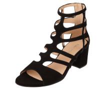 Sandalette aus Veloursleder mit T-Riemen