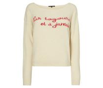 Pullover mit gestickter Message